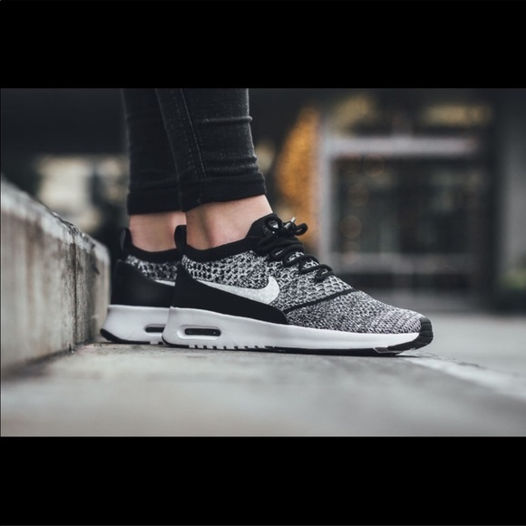 new styles 223c3 5be4f Nike Air Max Thea Ultra Flyknit Black White